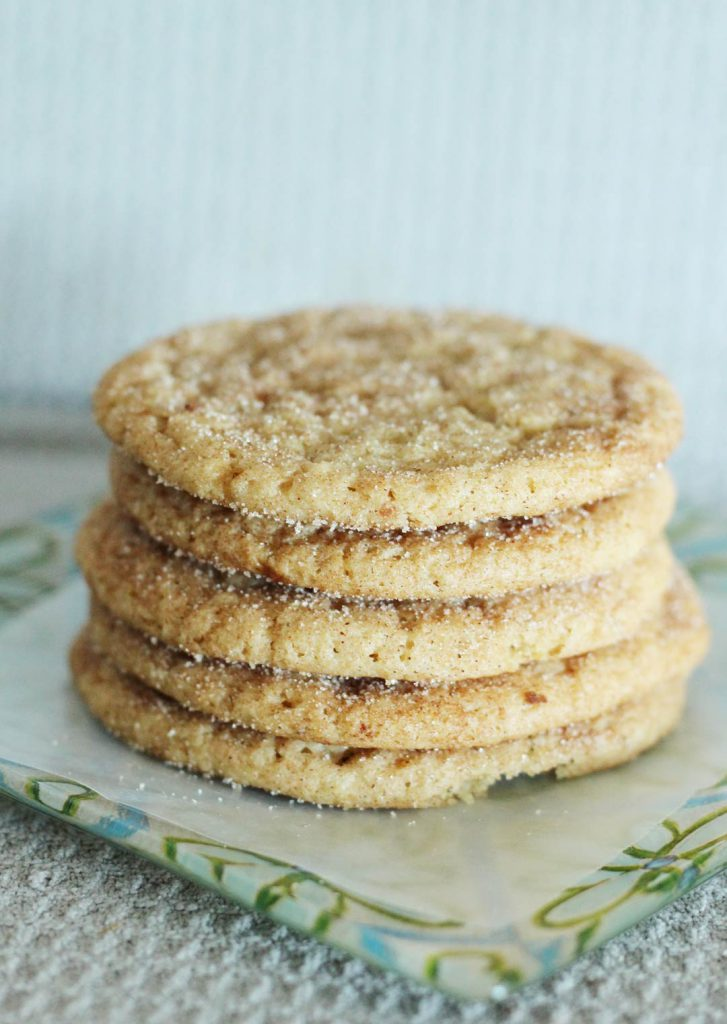 A satisfyingly stupendous stack of snickerdoodles.