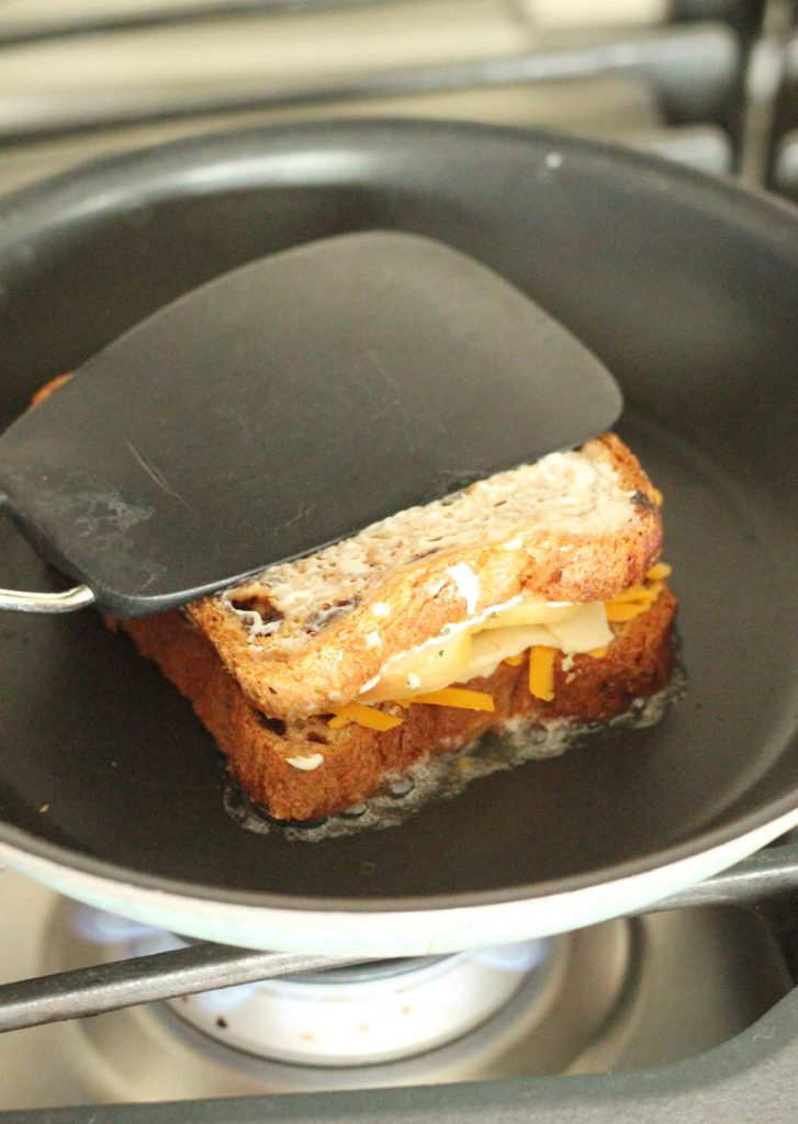 I flatten mine with a spatula while it cooks. It helps all the ingredients to meld together. Melding is good.